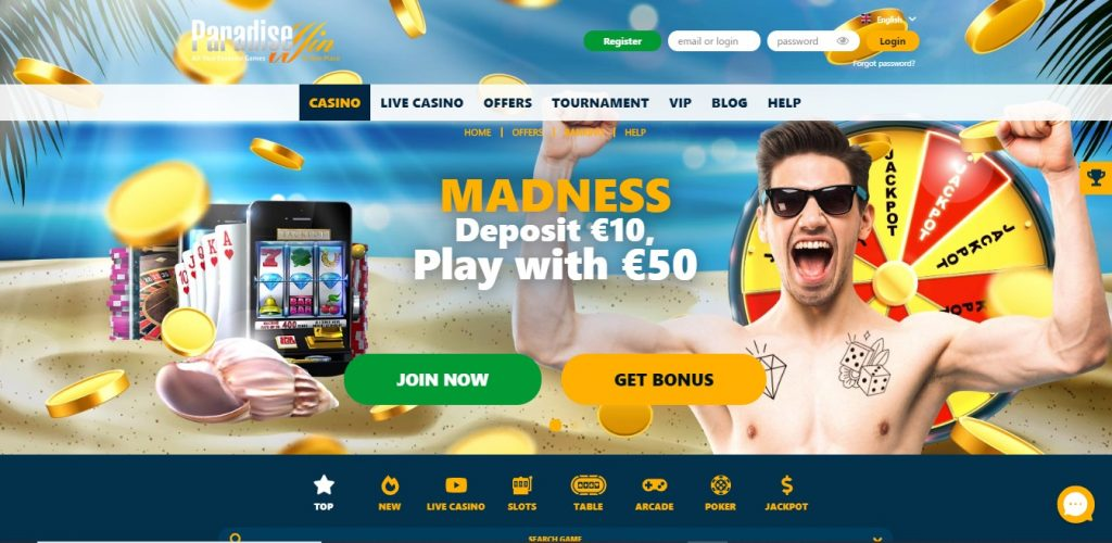 Paradisewin Casino review