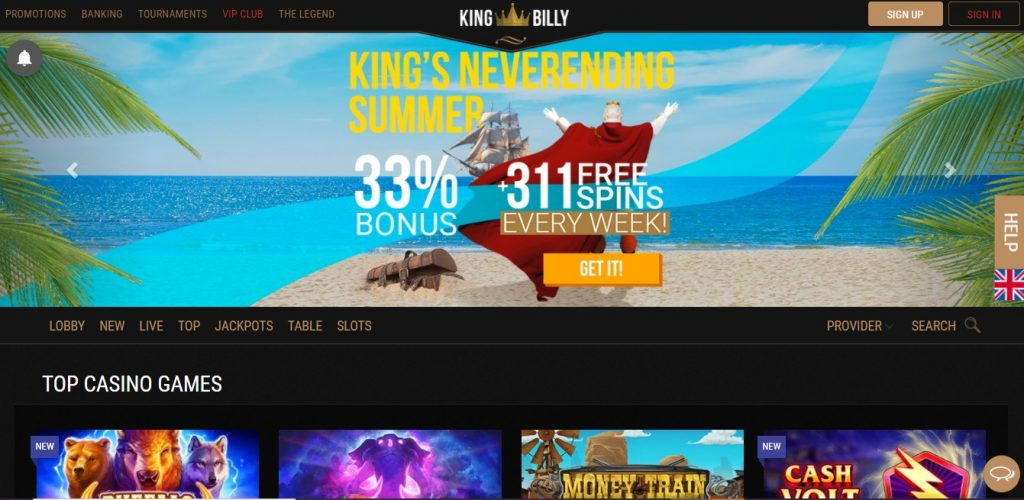King Billy Casino review New Zealand
