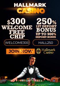 Hallmark Casino $300 free chip
